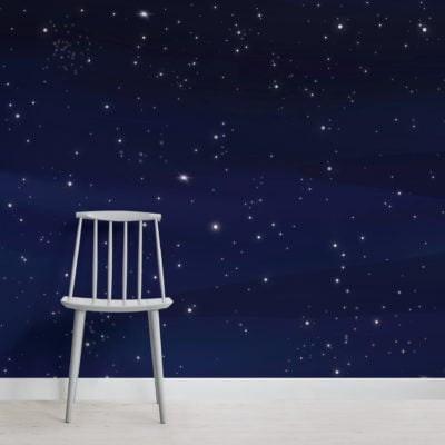 2-dark-blue-night-sky-stars-wallpaper-mural-Plain