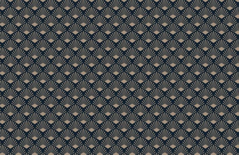 2-gold-and-navy-art-deco-fan-repeat-pattern-wallpaper-Plain