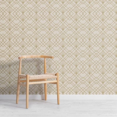 2-gold-art-deco-geometric-repeat-pattern-wallpaper-Plain