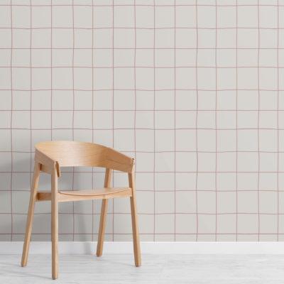 2-modern-neutral-grid-repeat-pattern-wallpaper-Plain