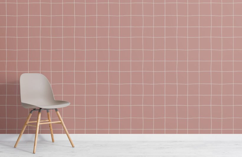2-modern-pink-grid-repeat-pattern-wallpaper-Plain