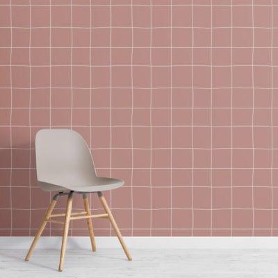 2-modern-pink-grid-repeat-pattern-wallpaper-Plain