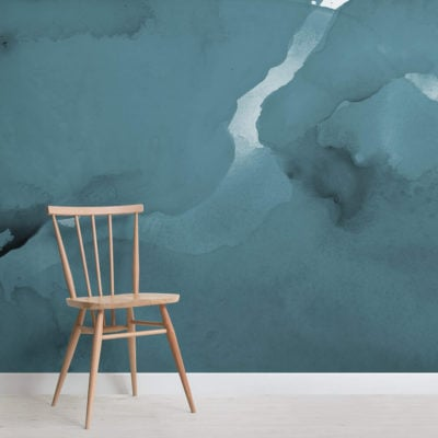 Teal Watercolour Wallpaper Mural