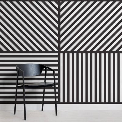 Square Striped Wallpaper Mural