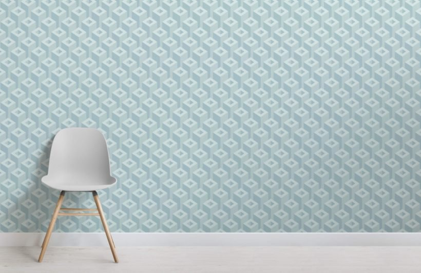 3D Geometric Pattern Wallpaper Mural