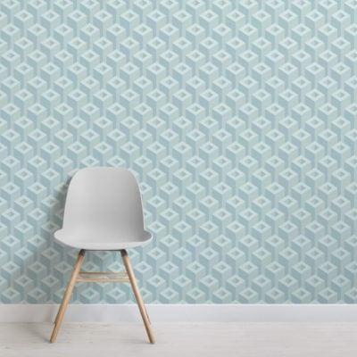 3D Geometric Pattern Wallpaper Mural