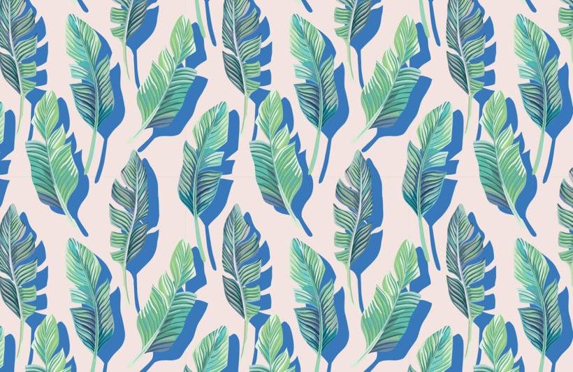 3d-leaf-tropical-design-plain-wall-murals