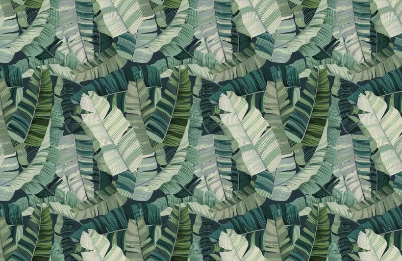 3d-mixed-tropical-camo-leaf-design-plain-wall-murals