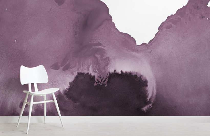 Purple Watercolour Wallpaper Mural