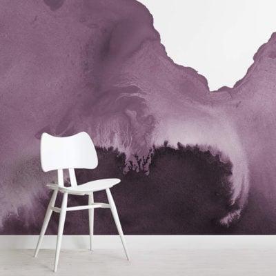 Purple Watercolour Wallpaper Mural