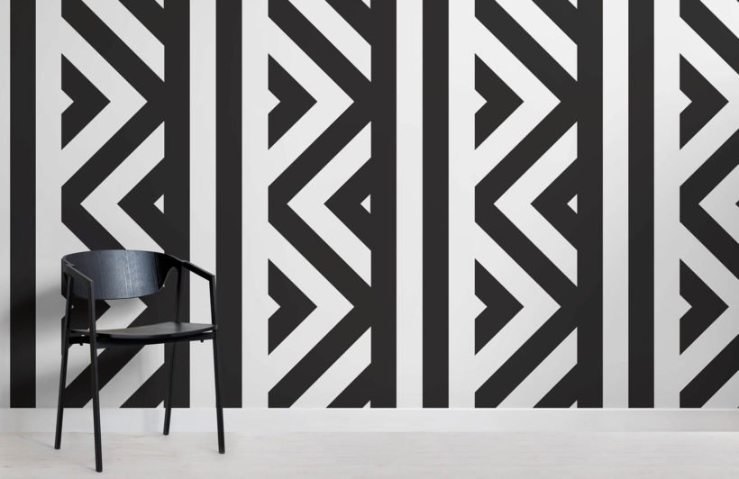ZigZag Black and White Wallpaper Mural