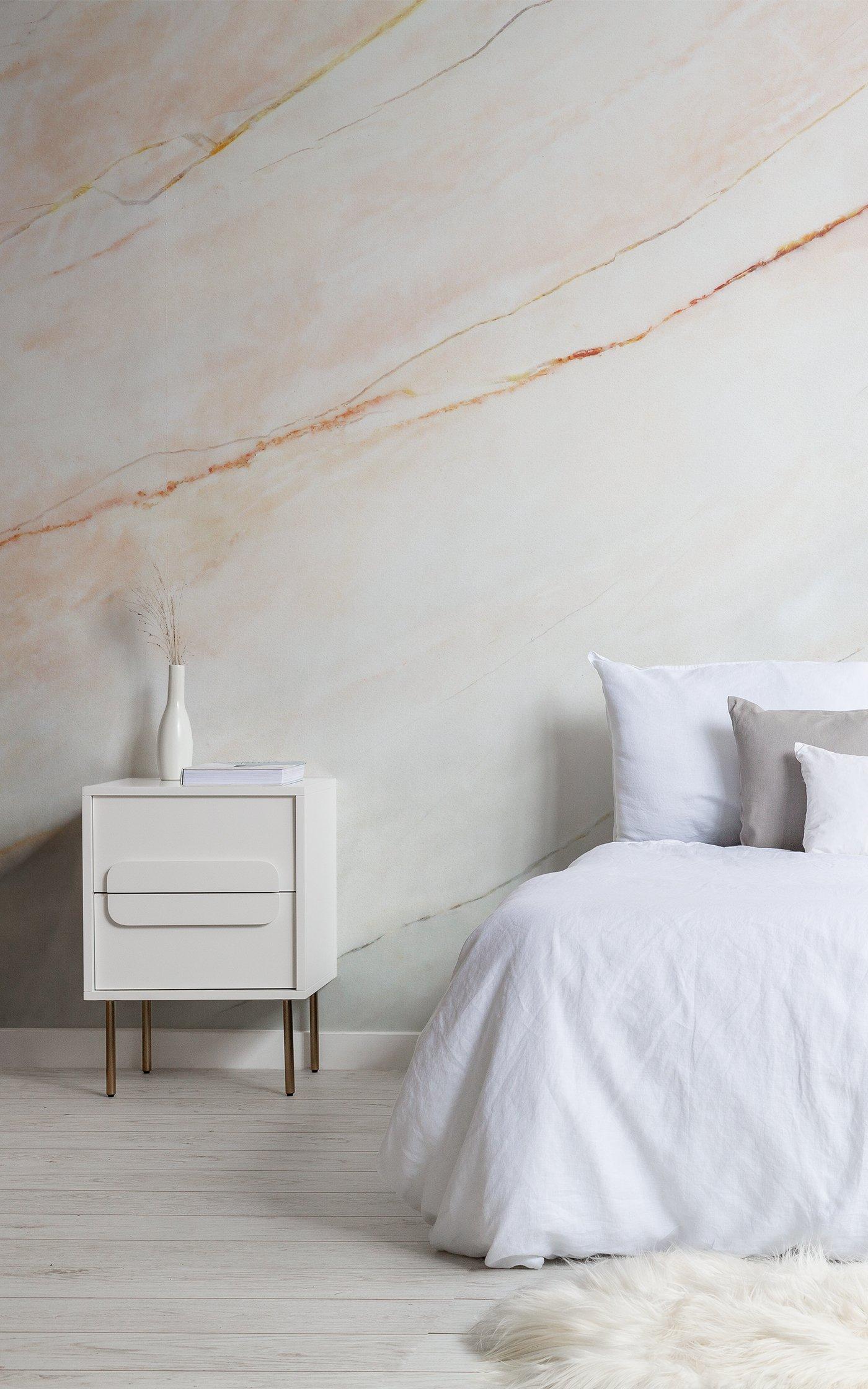 blush pink fade marble wallpaper