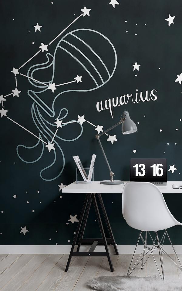 Aquarius sign zodiac wallpaper