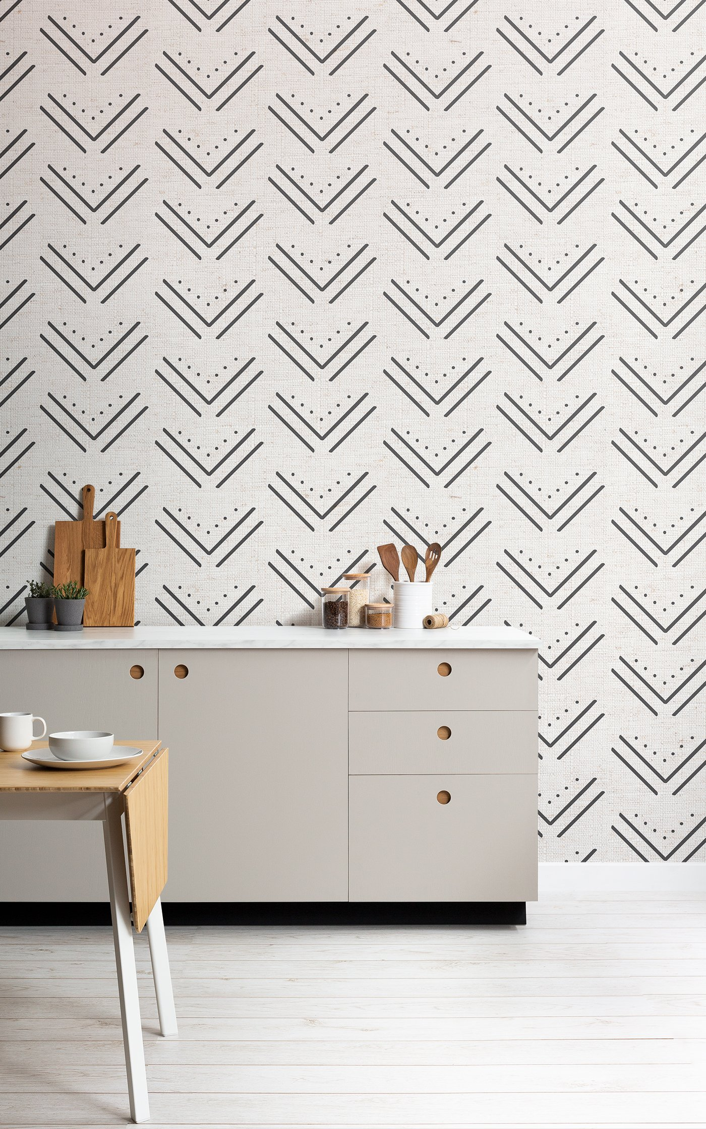 tribal arrowhead pattern wallpaper