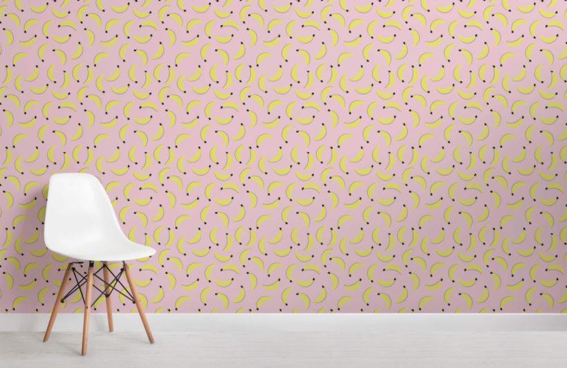 Banana Pattern Wallpaper Mural