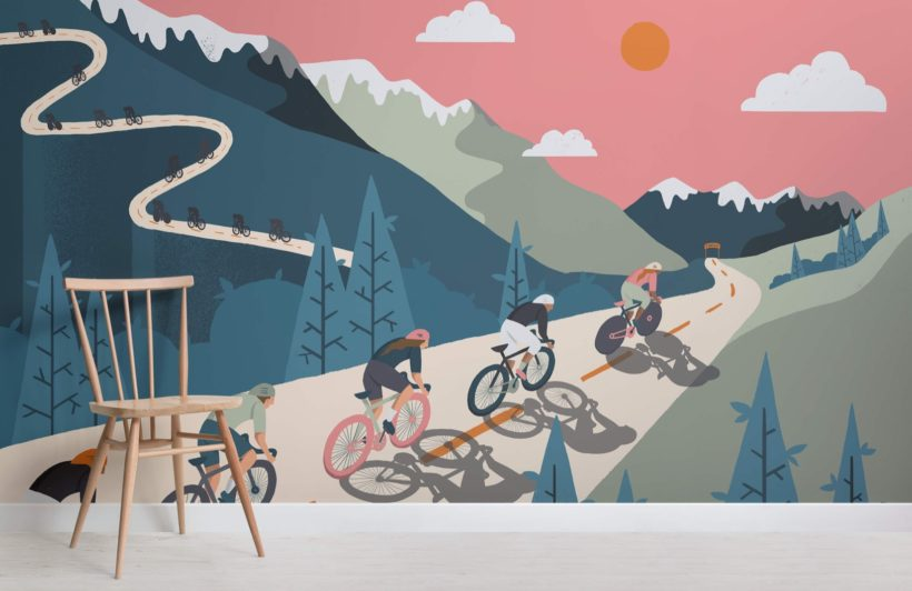 Bicycle Race Wallpaper Mural