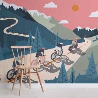 Bicycle Race Wallpaper Mural