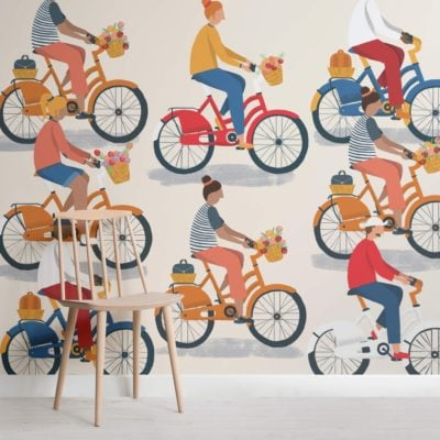 Bicycle Riding Wallpaper Mural