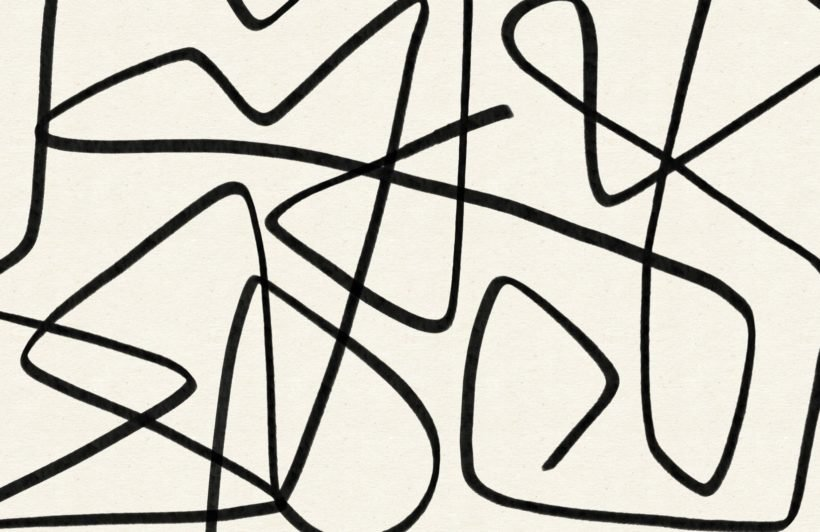 Black-and-Beige-Wavy-Line-Abstract-Wallpaper-Mural