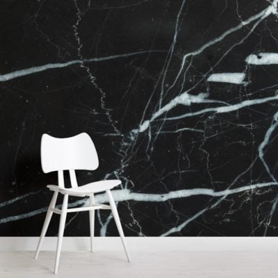 Black and Blue Dark Marble Effect Wallpaper Mural