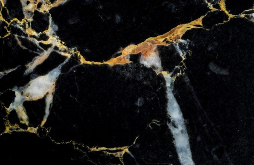 Black and Gold Dark Marble Effect Wallpaper Mural