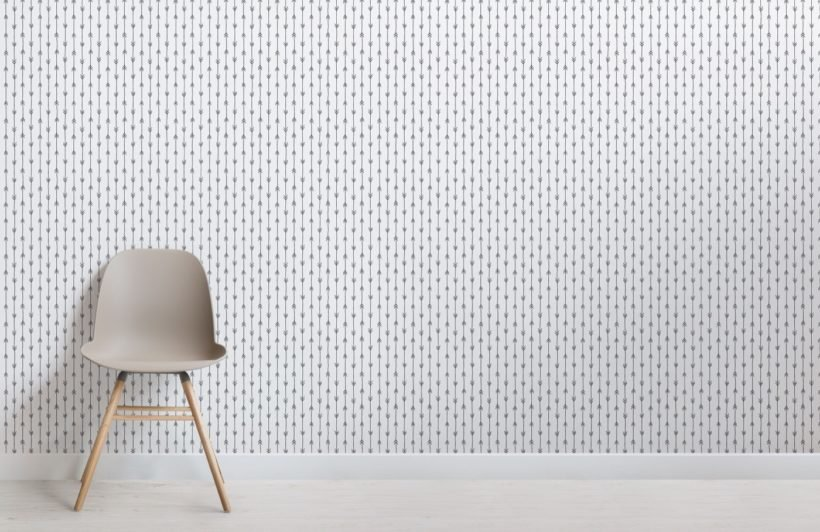 Black and White Arrow Print Pattern Wallpaper Mural