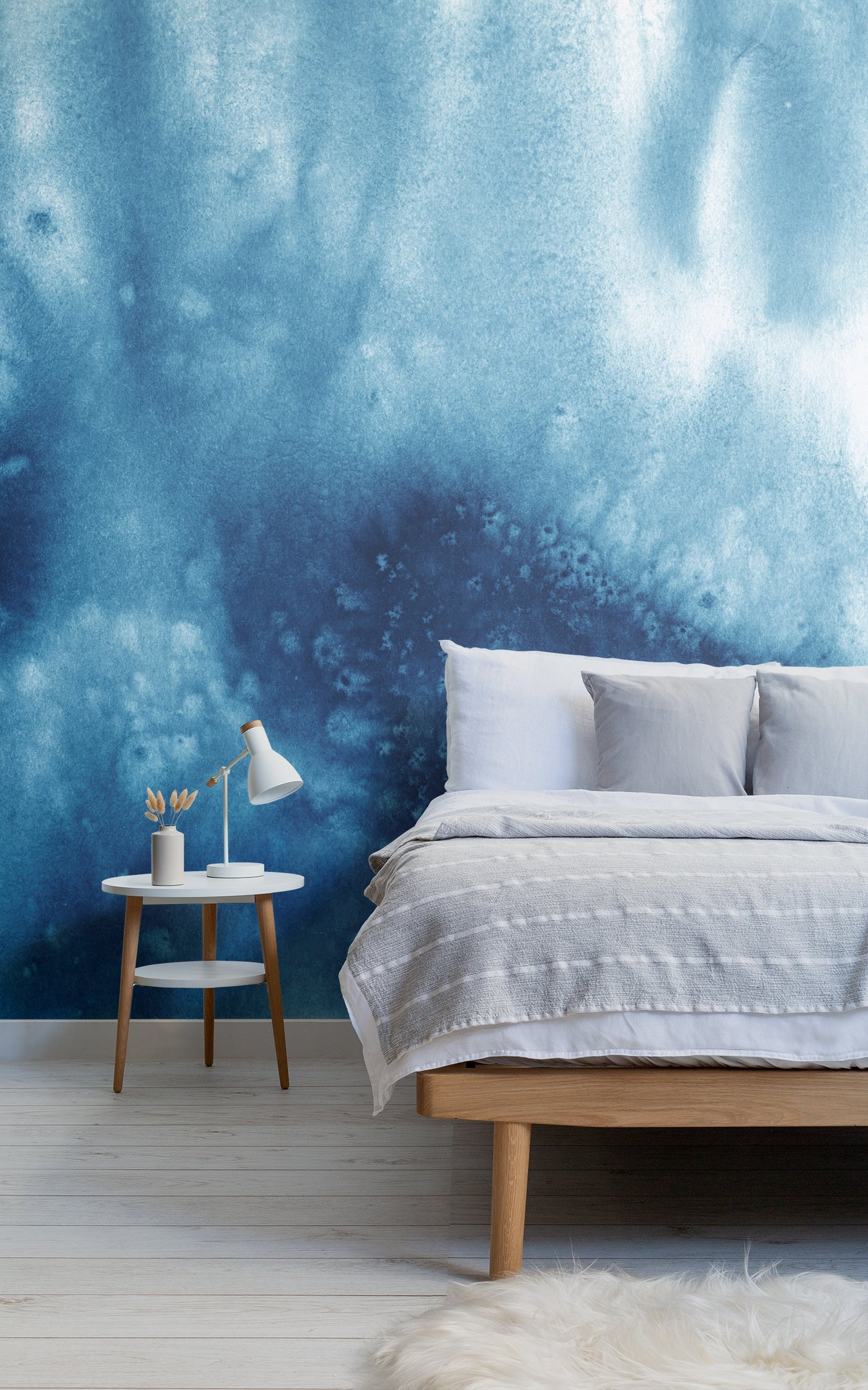 blue abstract watercolor paint wallpaper
