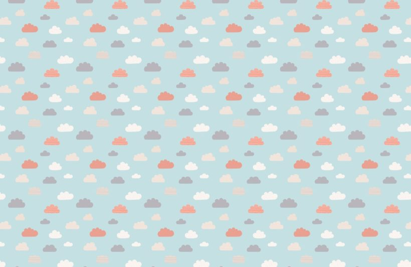 Blue Children's Cloud Wallpaper Mural
