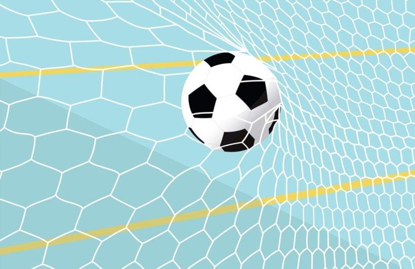 Blue Football Net Wallpaper Mural