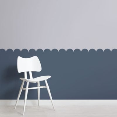 Blue Two Tone Patterned Geometric Wallpaper Mural