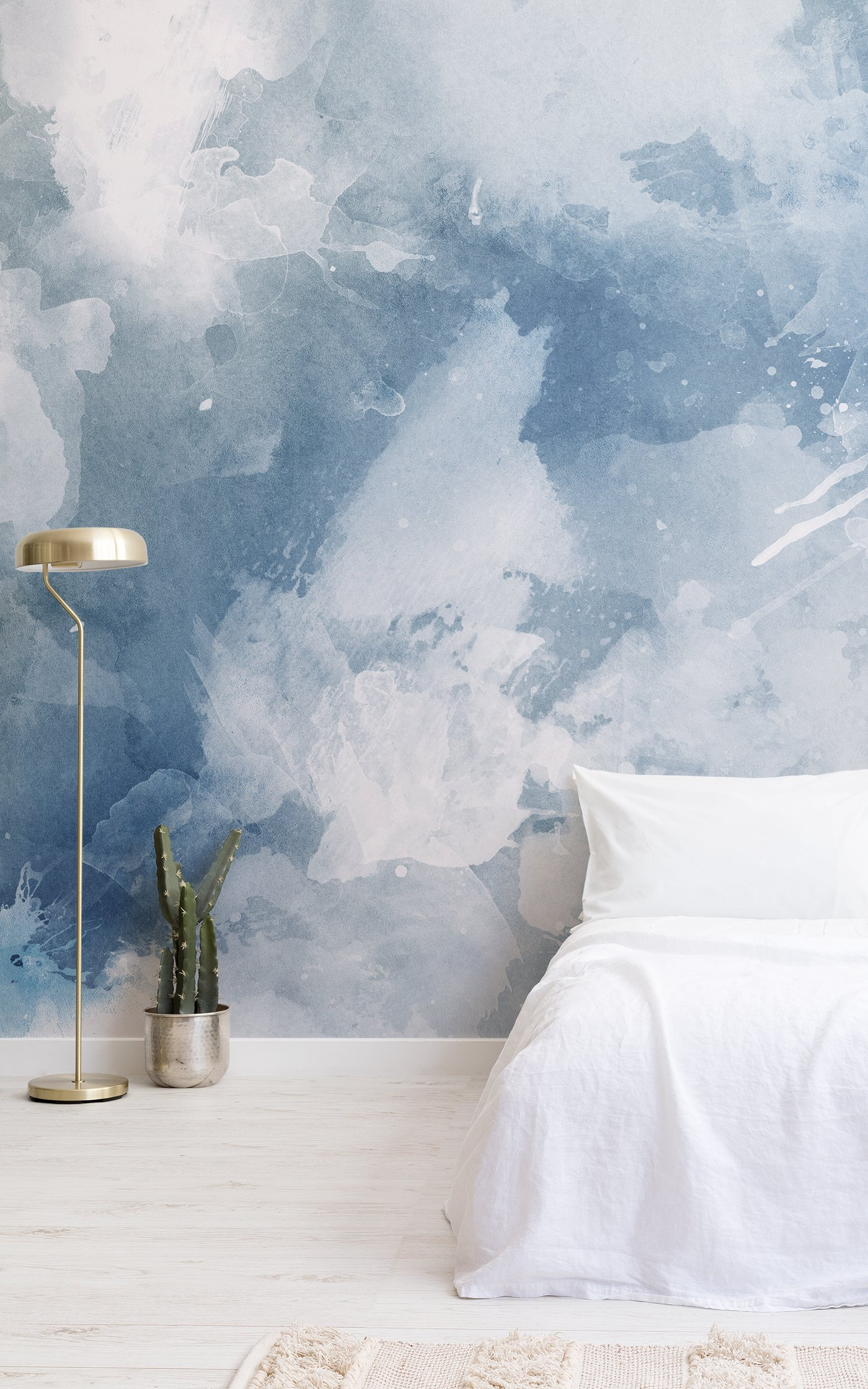 blue and white grunge watercolour wallpaper