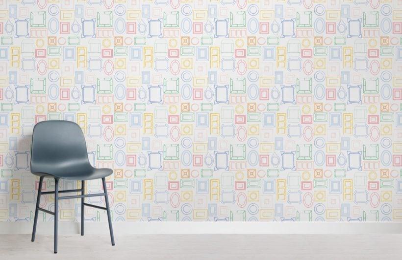Colourful Frame Pattern Wallpaper Mural