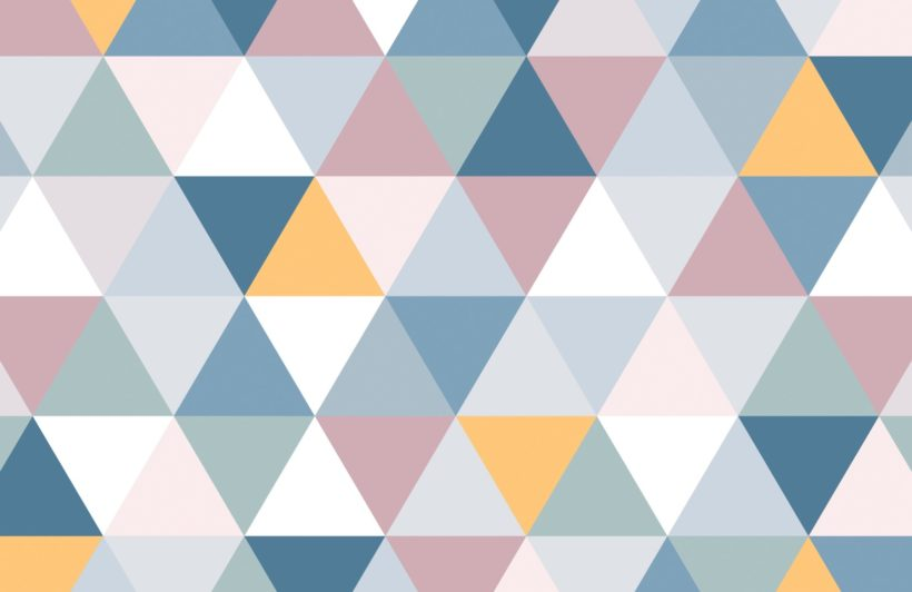 Colourful Geometric Triangle Pattern Wallpaper Mural