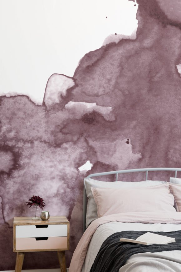 dusty pink watercolor wallpaper
