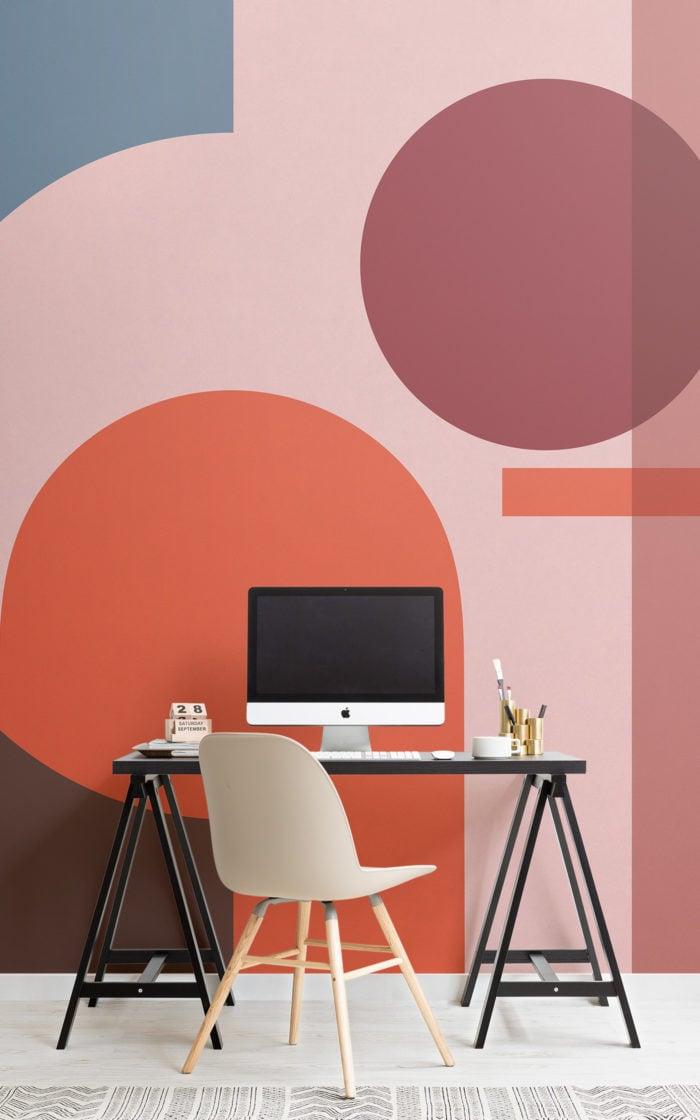 Bold geometric shapes wallpaper