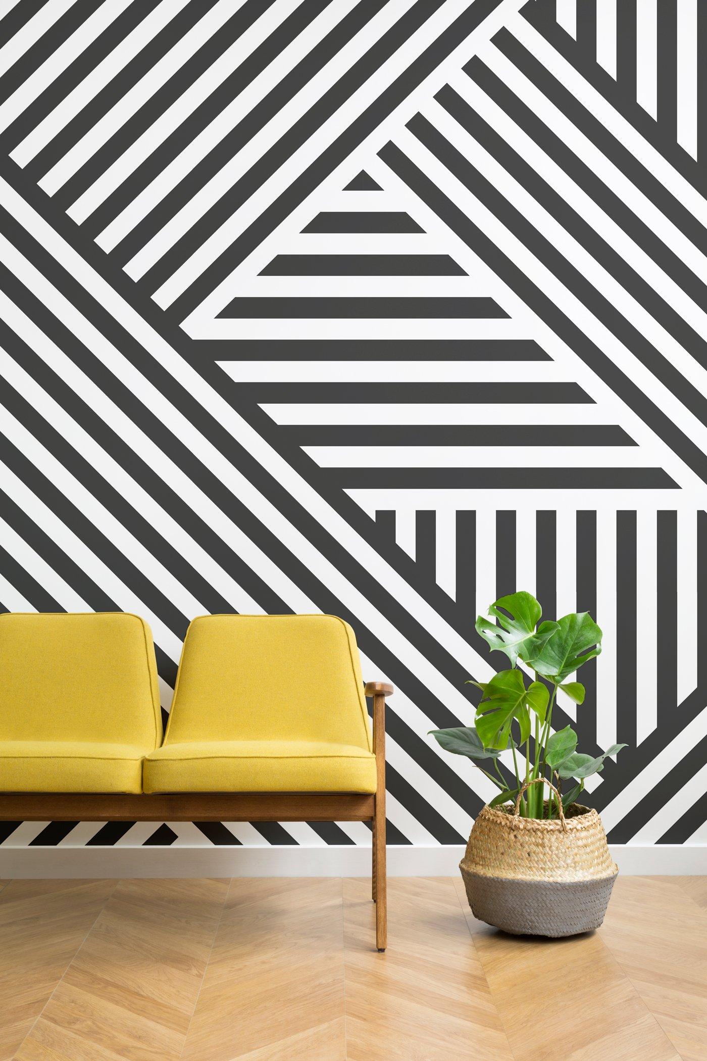 Divert-Striped-Geometric-Wall-Mural