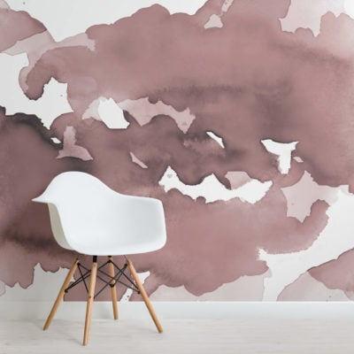 Dusky Pink Abstract Watercolour Wallpaper Mural