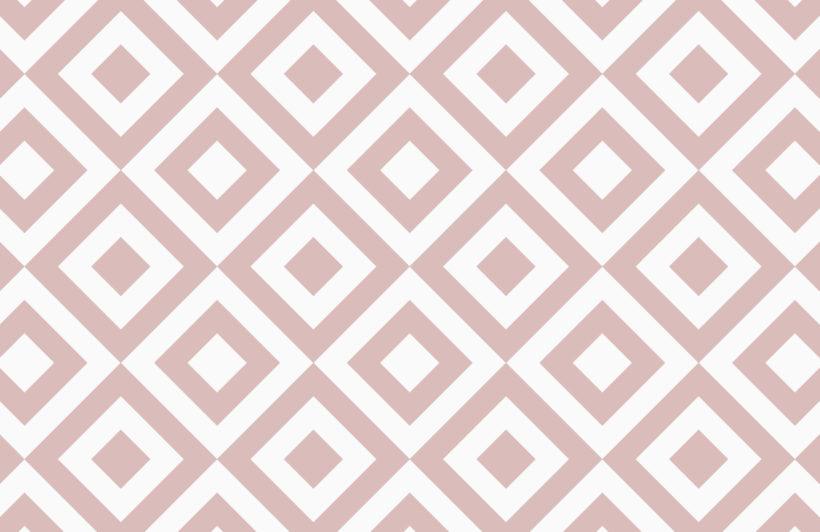 Dusky Pink Geometric Wallpaper Mural