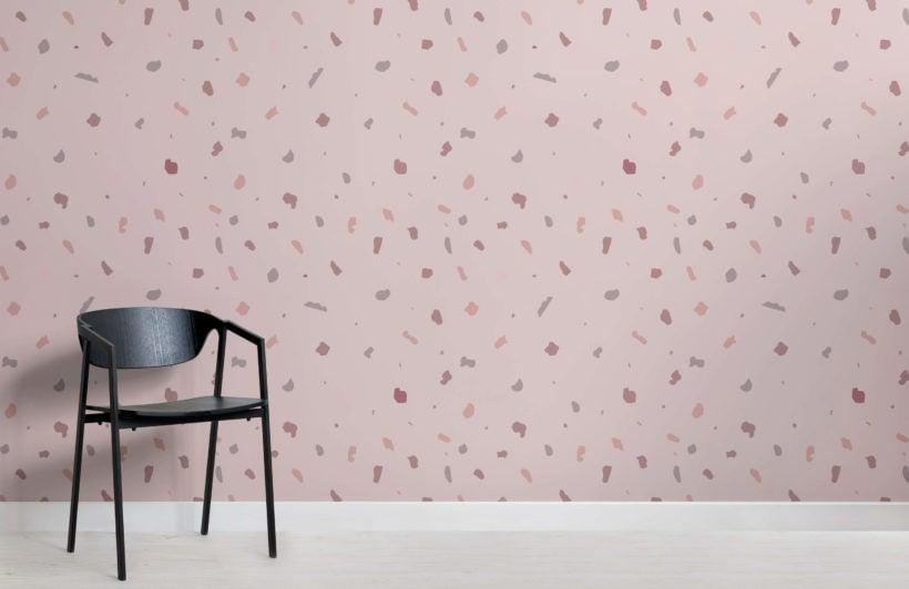 Dusky Pink Terrazzo Wallpaper Mural