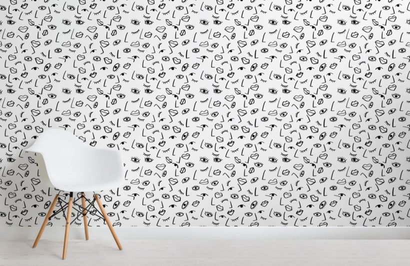 Face Effect Wallpaper Mural