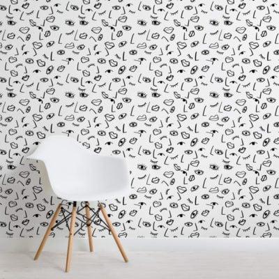 Face Effect Wallpaper Mural