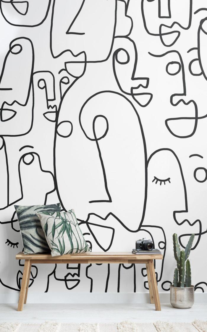 Face-Doodles-black_white_line_drawing_wallpaper