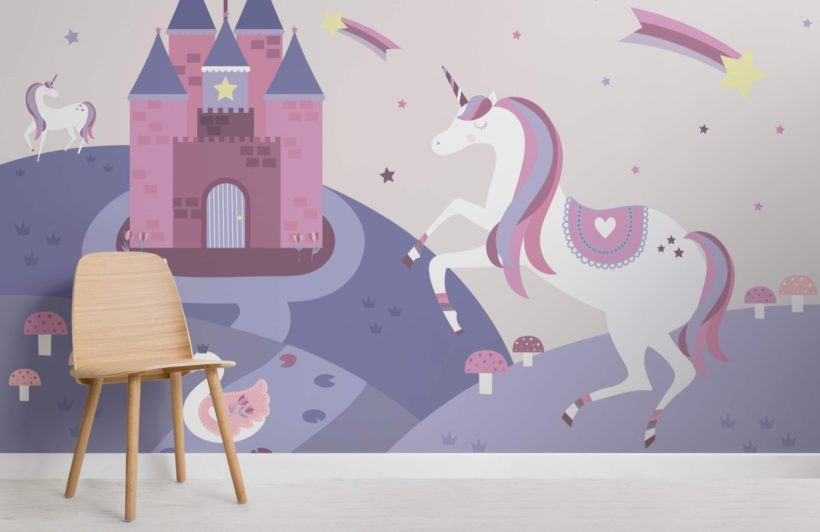 Fairytale Unicorn Wallpaper Mural