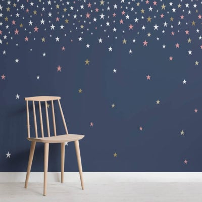 Falling Star Navy wallpaper