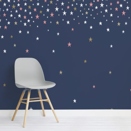 Falling Star Blue Wallpaper Mural Image