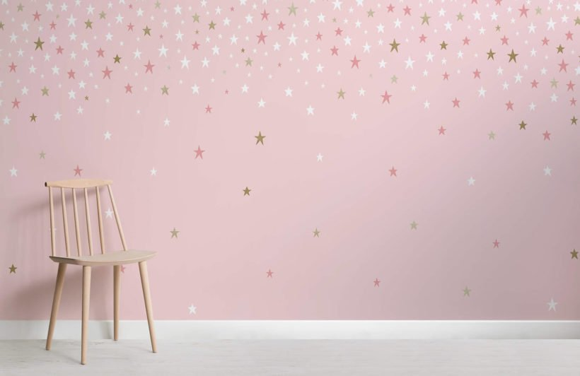 Falling Star Pink wallpaper
