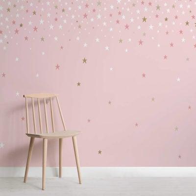 Falling Star Pink wallpaper