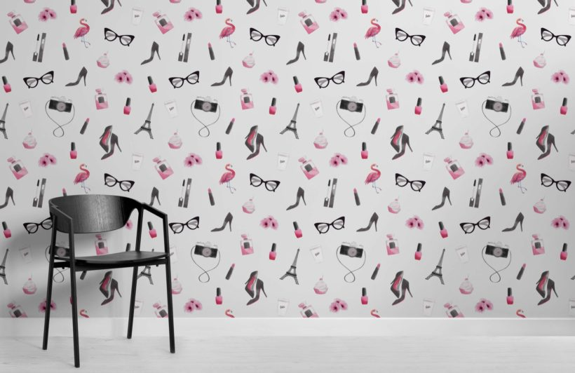 Fashion Illustration Wallpaper Mural