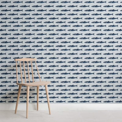 Fish Pattern Seaside Wallpaper Mural