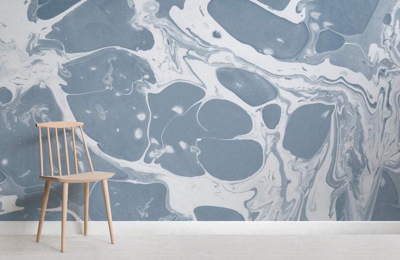 Flow-Blue-Marbled-Wallpaper